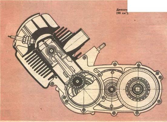 Мотор с горизонтальным